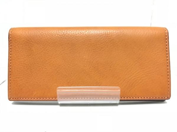 大峡製鞄(オオバセイホウ) 長財布美品  ブラウン レザー