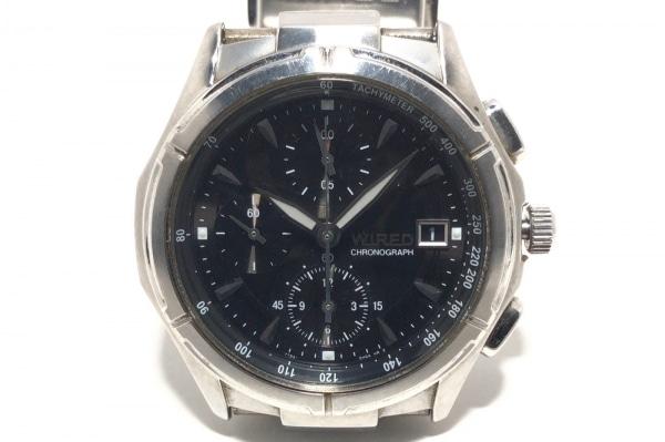 WIRED(ワイアード) 腕時計 7T92-0GB0 メンズ クロノグラフ 黒