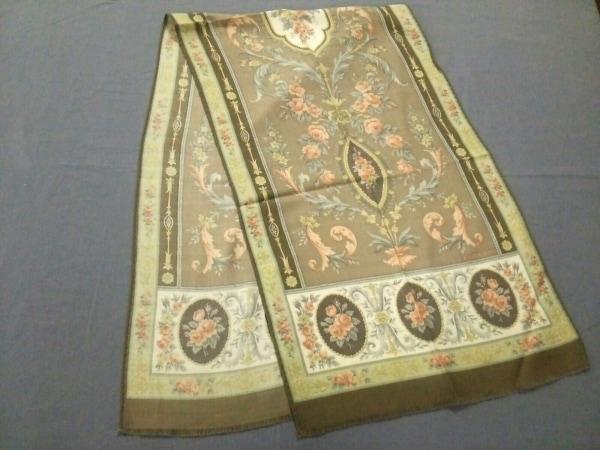 ETRO(エトロ) スカーフ美品  カーキ×マルチ 花柄