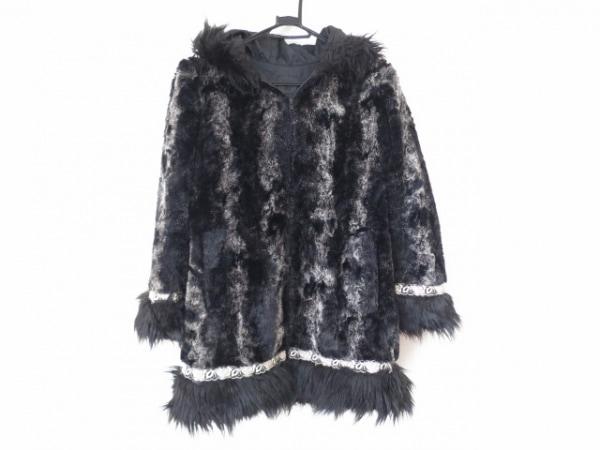 ANNA SUI(アナスイ) コート サイズ2 S レディース美品  黒×グレー×アイボリー