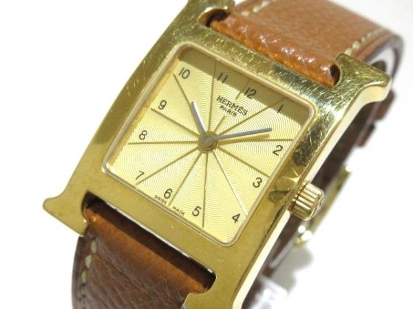 HERMES(エルメス) 腕時計 Hウォッチ HH1.201/HH1.201.460/HGO レディース ゴールド