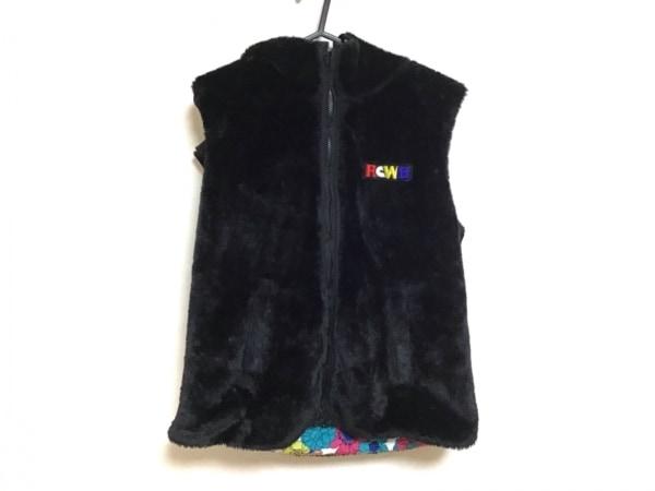 ロデオクラウンズ ダウンジャケット サイズM レディース 黒×白×マルチ