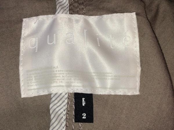 qualite(カリテ) ブルゾン サイズ2 M レディース ダークグレー 春・秋物