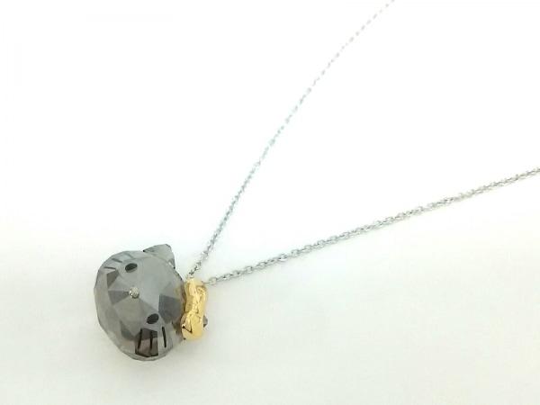 スワロフスキー ネックレス美品  スワロフスキークリスタル×金属素材 HELLO KITTY