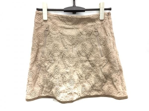 Laula(ラウラ) ミニスカート サイズ1 S レディース美品  ベージュ