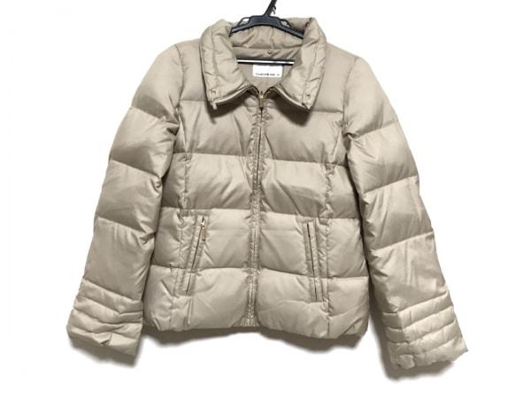エムプルミエブラック ダウンジャケット サイズ34 S レディース美品  ベージュ 冬物