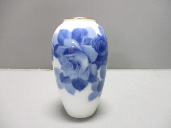 オオクラチャイナ 小物新品同様  白×ネイビー×ゴールド 陶器