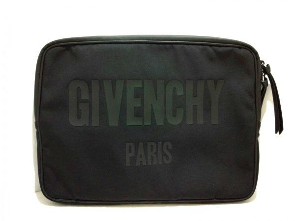 GIVENCHY(ジバンシー) クラッチバッグ美品  - 黒 ナイロン×レザー