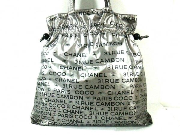 CHANEL(シャネル) トートバッグ アンリミテッド シルバー×黒 化学繊維