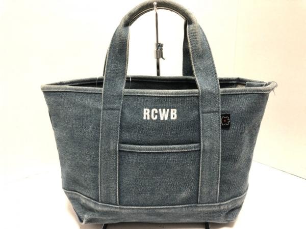 RCWB RODEOCROWNS WIDE BOWL(ロデオクラウンズ) ハンドバッグ ブルー デニム