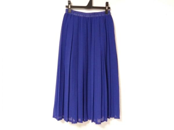ネネット ロングスカート サイズ2 M レディース ネイビー プリーツ/ウエストゴム