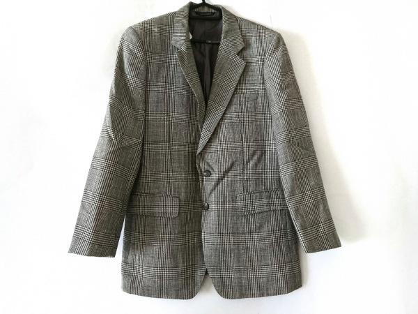 ケント&カーウェン ジャケット サイズ  メンズ美品  白×黒×ライトブルー ネーム刺繍