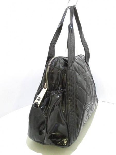 ea9bee1b6df5 ... CHANEL(シャネル) ハンドバッグ マトラッセ 黒 ココマーク PVC(塩化ビニール) ...