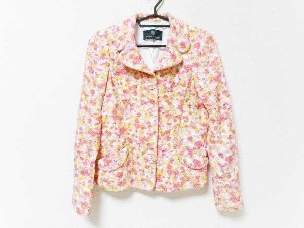 レナランゲ ジャケット サイズUSA6 M レディース 白×ピンク×イエロー 花柄