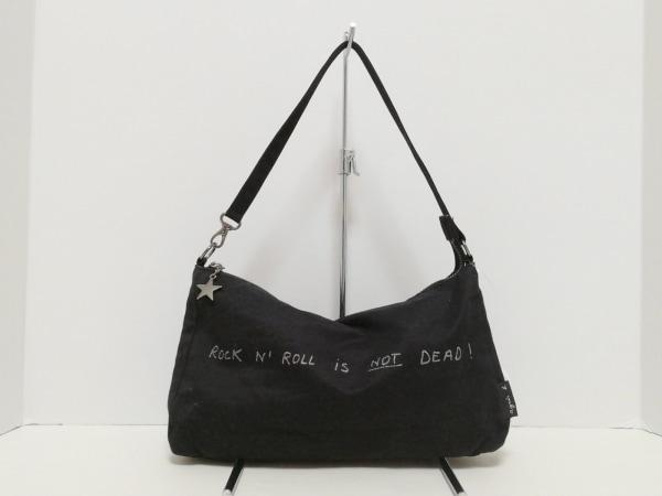 agnes b(アニエスベー) ハンドバッグ 黒 コットン