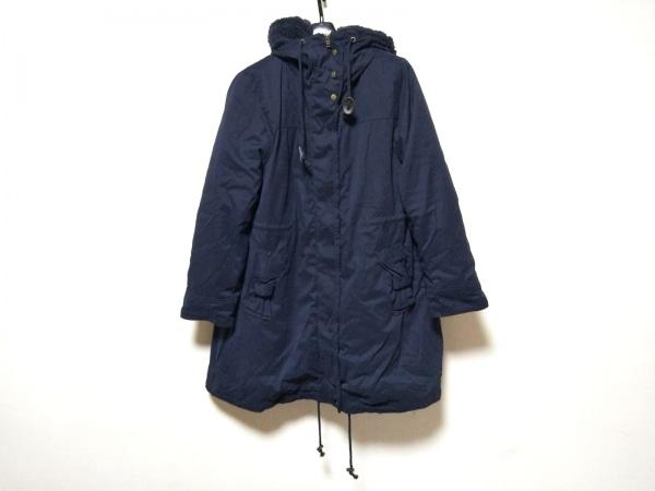クチュールブローチ コート サイズ40 M レディース美品  ネイビー 冬物
