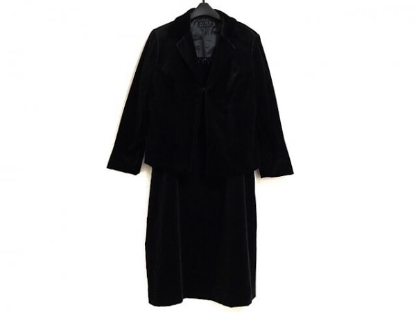 MINT BREEZE(ミントブリーズ) ワンピーススーツ サイズ13 L レディース 黒 ベロア