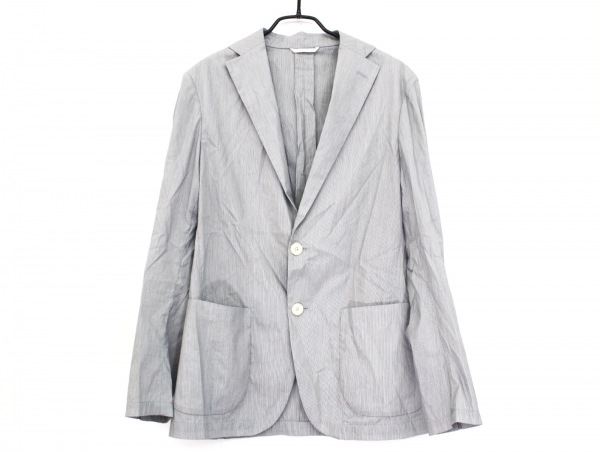 Platinum COMME CA(プラチナコムサ) ジャケット サイズS メンズ美品  黒×白