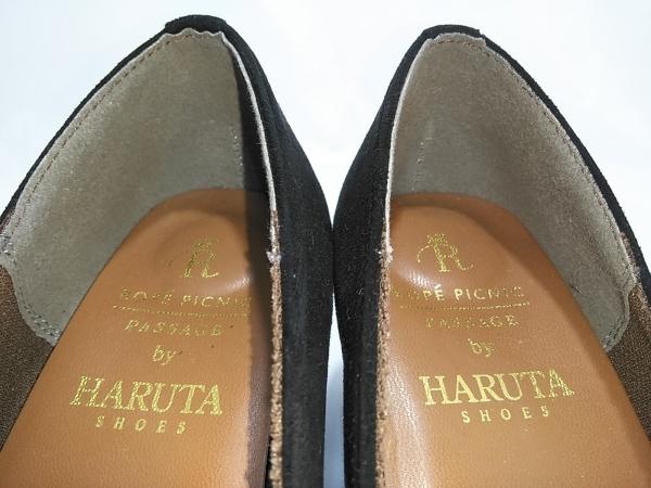 HARUTA(ハルタ) パンプス 36  レディース 黒 ヌバック