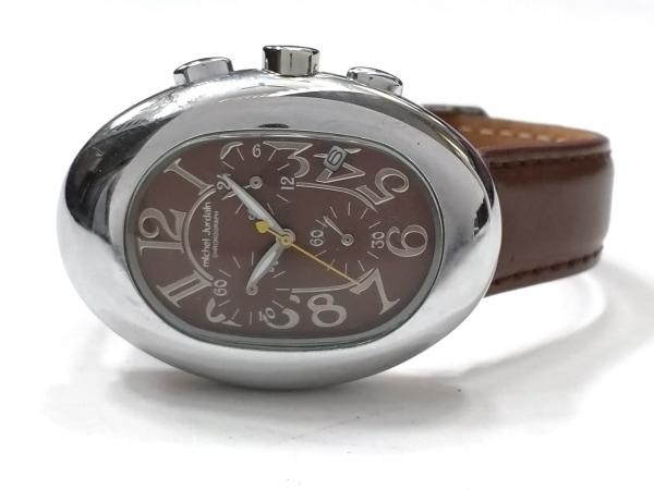 ミッシェルジョルダン 腕時計美品  EL-1025 レディース 革ベルト/クロノグラフ