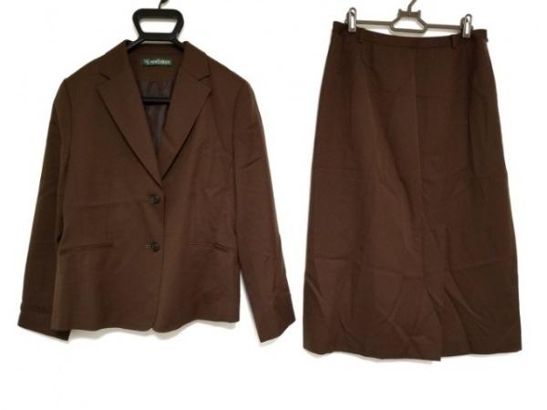 NEW YORKER(ニューヨーカー) スカートスーツ サイズ13 L レディース ダークブラウン