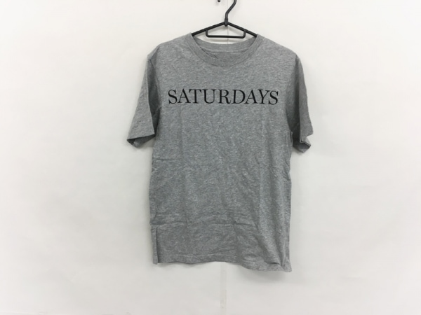 サタデーズ サーフ ニューヨーク 半袖Tシャツ サイズS メンズ美品  グレー×黒