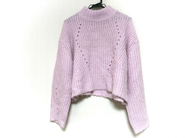 UNIF(ユニフ) 長袖セーター サイズS レディース ピンク ハイネック