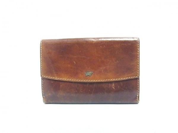 BRAUN BUFFEL(ブラウン ビュッフェル) Wホック財布 ダークブラウン レザー