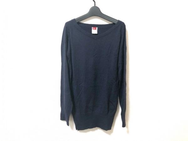 【中古】 ダブルスタンダードクロージング DOUBLE STANDARD CLOTHING 長袖セーター レディース ネイビー