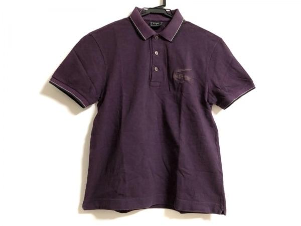 Lacoste(ラコステ) 半袖ポロシャツ サイズ3 L メンズ パープル×黒 刺繍