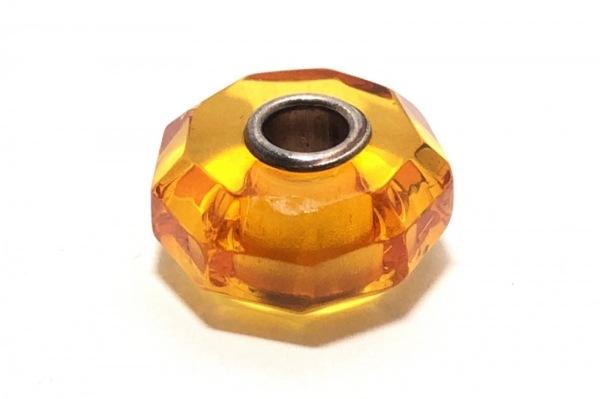 TROLLBEADS(トロールビーズ) ペンダントトップ ガラス×シルバー オレンジ