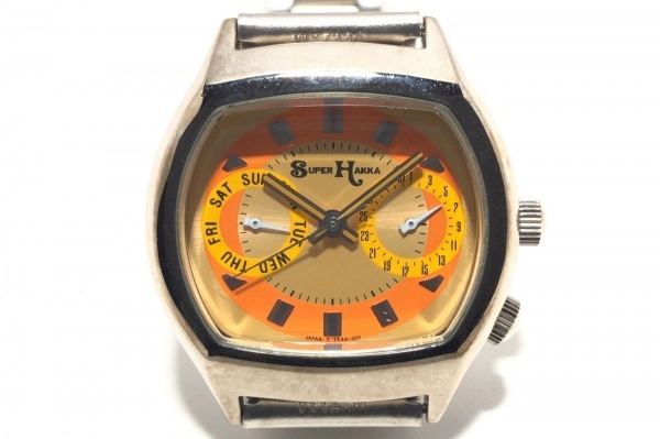 SUPER HAKKA(スーパーハッカ) 腕時計 - レディース オレンジ