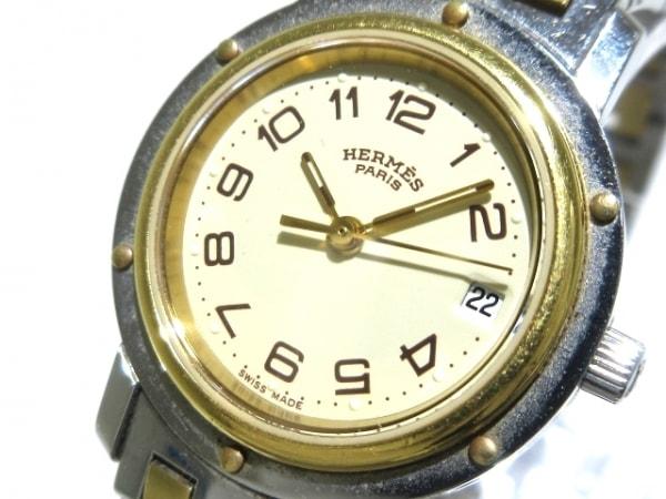 HERMES(エルメス) 腕時計 クリッパー CL3.240 レディース アイボリー