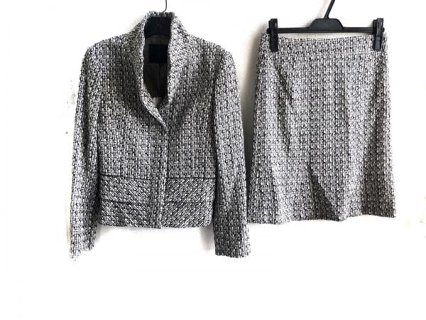 アンタイトル スカートスーツ サイズ2 M レディース美品  白×黒×ダークグレー