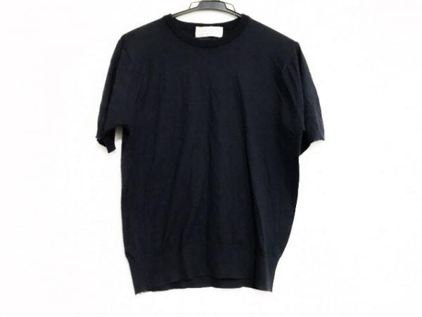 ジョンスメドレー 半袖セーター サイズXS レディース美品  ダークネイビー