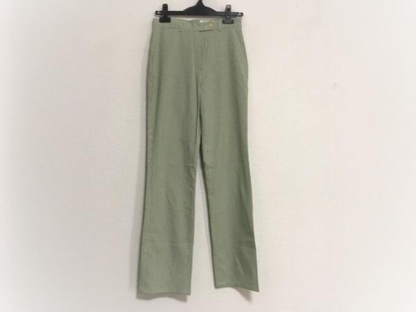 23区(ニジュウサンク) パンツ サイズ38 M レディース グリーン×白×ライトグリーン