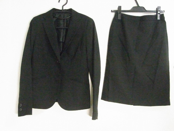 COMME CA ISM(コムサイズム) スカートスーツ サイズM レディース美品  黒