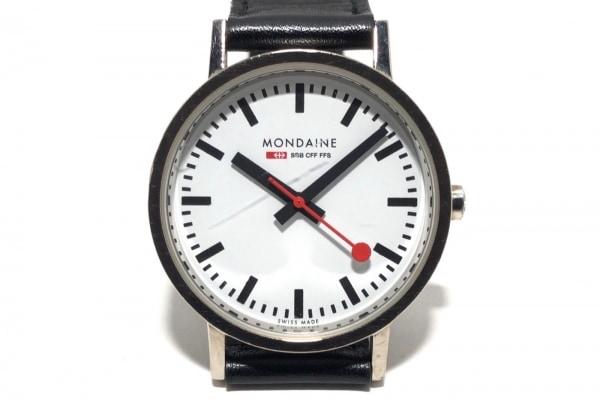 モンディーン 腕時計 - メンズ 社外革ベルト/リミテッドエディションNo.1286 白