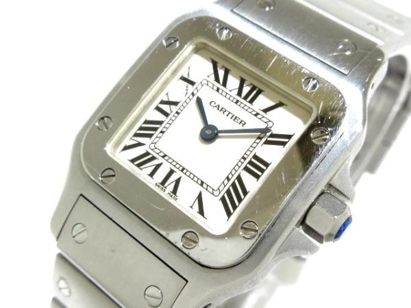 Cartier(カルティエ) 腕時計 サントスガルベSM W20056D6 レディース SS 白