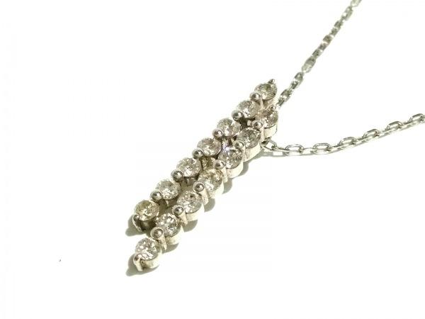 ノーブランド ネックレス美品  2936 2.9 K18WG×ダイヤモンド クリア