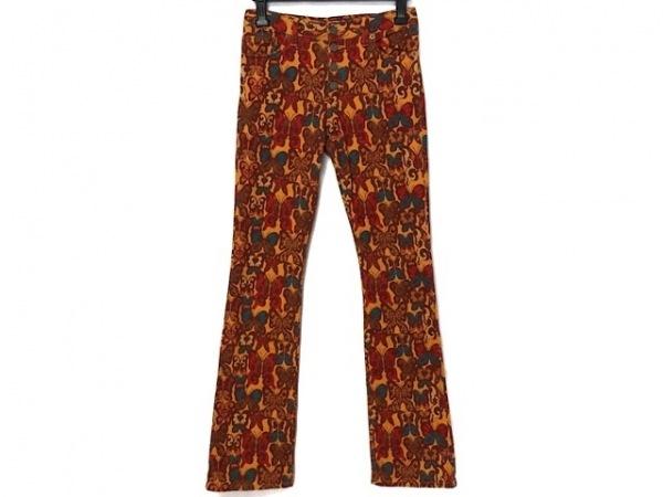 マッシュマニア パンツ サイズS レディース美品  オレンジ×ブラウン×マルチ 蝶柄