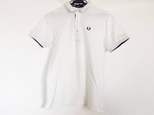 74a00b48642a68 FRED PERRY(フレッドペリー) 半袖ポロシャツ サイズS メンズ 白の中古 ...