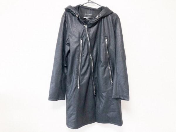 ジョニーウルフ コート サイズ4 XL レディース美品  黒 ジップアップ/春・秋物