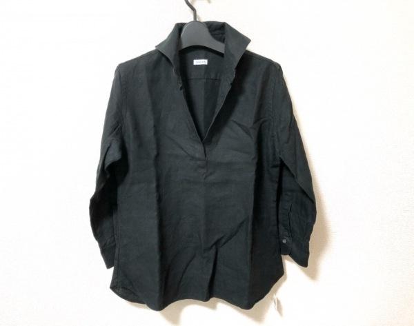 ORIAN(オリアン) 長袖シャツブラウス サイズ42 L レディース美品  黒 麻