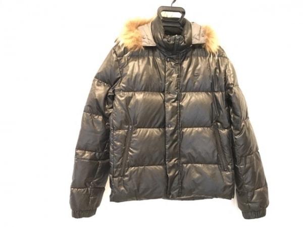 Lacoste(ラコステ) ダウンジャケット サイズ50 XL メンズ 黒 ファー/冬物
