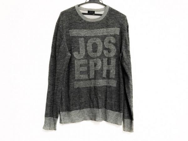 ジョセフオム 長袖セーター サイズ46 XL メンズ美品  ダークグレー×グレー