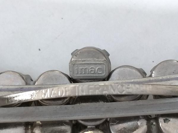 imac(イマック) バレッタ 金属素材×ラインストーン シルバー