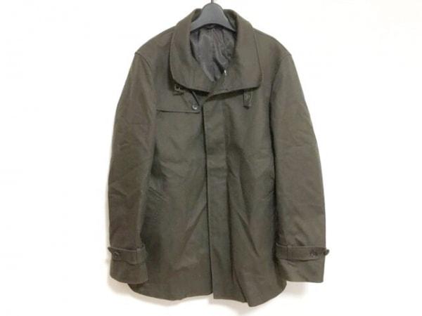 ムッシュニコル コート サイズ48 XL メンズ ダークグレー 春・秋物/ライナー付き