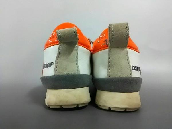 ディースクエアード スニーカー 36 レディース アイボリー×オレンジ 3