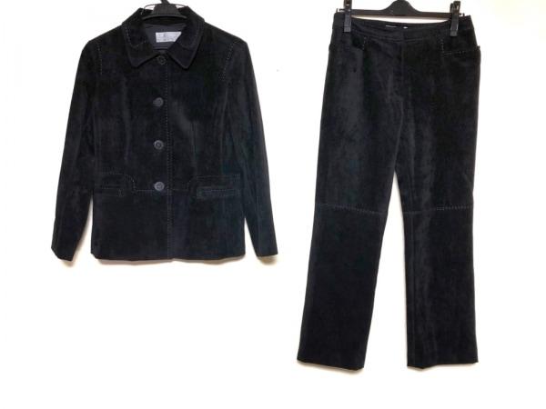 mila schon(ミラショーン) レディースパンツスーツ サイズ40 M レディース 黒 ベロア